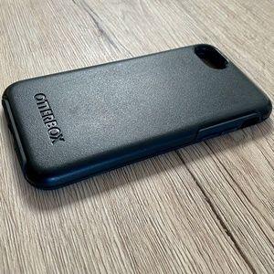 Black Hardshell OtterBox iPhone Case